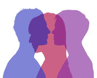 http://www.dreamstime.com/stock-images-man-s-infidelity-silhouette-young-woman-looking-each-other-shadow-another-woman-superimposed-their-image31745914