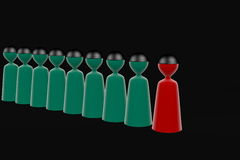 http://www.dreamstime.com/stock-photography-green-team-red-leader-image30281912